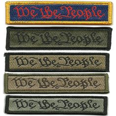 """""""We The People: Our Founding Fathers' Intentions"""" Preamble to the United States Constitution morale patch"""