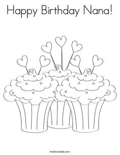 58 Best Happy Birthday coloring Pages images Happy