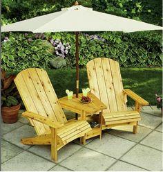 um projeto muito legal para jardim ou quintal, de um conjunto de cadeira e mesa, projeto original em: http://www.skiltools.com/How-To/...