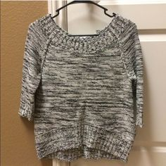 NWT Express sweater NWT Express black and white sweater. Never worn Express Sweaters Crew & Scoop Necks