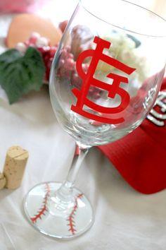 STL - St. Louis Cardinals - STL Cardinals - Cardinal Nation - St. Louis Cardinals - STL Wine Glass - St. Louis Baseball - Yadier Molina