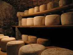 A cave of Salers cheese in a small farm close to St Flour in Massif Central. Fromage Aop, Cheese Cave, Earthship Home, Religious Experience, How To Make Cheese, Ny Times, Food And Drink, Community, Touch