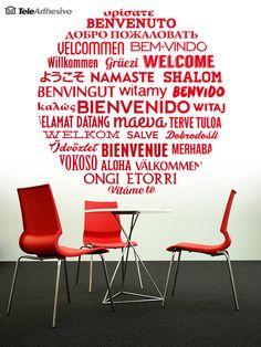 Vinilos Decorativos: Bienvenido en Idiomas 2