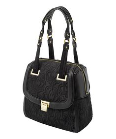 This Onyx Bauhaus Bowler Shoulder Bag by Petunia by Petunia Pickle Bottom is perfect! #zulilyfinds