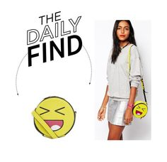 """""""Daily Find: Skinnydip Emoji Face Crossbody Bag"""" by polyvore-editorial ❤ liked on Polyvore featuring Skinnydip and DailyFind"""
