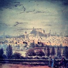 Painting of Aleppo city in Syria from 18th century
