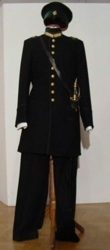 From 1885, Students of the Polytechnic Institute in Warsaw were obligated to wear uniforms. Mostly to prevent poorly dressed students and to keep students away from demonstrations (because they would be recognized).