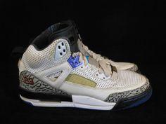Vtg OG 2010 Nike Air Jordan Spizike sz 5y V III IV VI Aqua Tone White Cement  #Jordan #AthleticSneakers #tcpkickz Jordan Spizike, Youth Shoes, Cement, Leather Men, Air Jordans, Nike Air, Aqua, Sneakers Nike, Best Deals