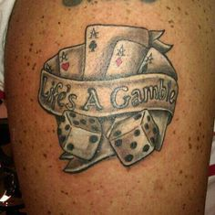 16 amazing aces tattoos ideas dice tattoo, poker tattoo, lifes a gamble tattoo, Dice Tattoo, Card Tattoo, Poker Tattoo, Tattoo Time, Lifes A Gamble Tattoo, Gambling Quotes, Gambling Tattoos, Gambling Machines, Breakfast For Kids