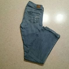 American Eagle Slim Boot Jeans (size 8 Long) American Eagle Slim Boot Denim Jeans. Rarely worn, between 5-10 times. Excellent condition. Light blue color. Size 8 Long. American Eagle Outfitters Pants Boot Cut & Flare
