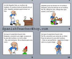 Pinocho Story for Spanish class