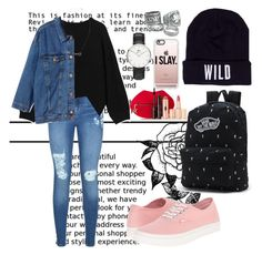 """""""Untitled #62"""" by clodfever on Polyvore featuring Lipsy, Monki, Forever 21, Vans, Wildfang, Casetify, Daniel Wellington and Charlotte Tilbury"""