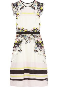 Erdem Lelani printed silk dress | NET-A-PORTER