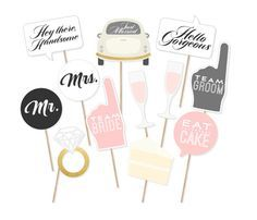 Printable Wedding Signs Photo Booth Props by PrintablePropShop