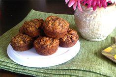 Coconut Flour Oatmeal Raisin and Flax Muffins Recipe