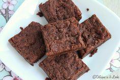 Fudge Brownies {Gluten-Free, Vegan, Gum-Free, FODMAP-Friendly}  /  Delicious as it Looks