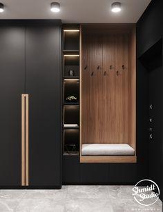 decoration ideas for pooja Project Contrasts Wardrobe Door Designs, Wardrobe Design Bedroom, Bedroom Bed Design, Bedroom Furniture Design, Wardrobe Doors, Closet Designs, Home Room Design, Modern Wardrobe Designs, Wardrobe Interior Design