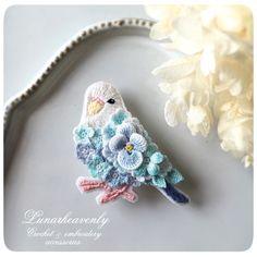 埋め込み画像 Crochet Birds, Crochet Art, Crochet Animals, Irish Crochet, Crochet Crafts, Crochet Flowers, Fabric Crafts, Crochet Projects, Sewing Crafts