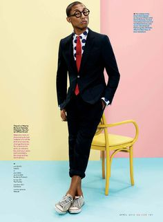 Pharell Williams for GQ Magazine by Paola Kudacki