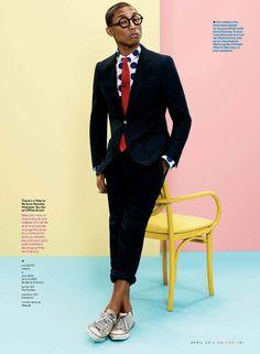 Pharell Williams for GQ Magazine by Paola Kudacki