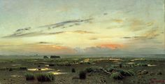Isaak Levitan - private collection? Marsh at Evening/Вечернее ...