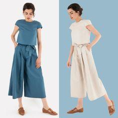 IL NOSTRO PREFERITO. Un gradito ritorno: il completo con il pantalone fiocco in due nuovi colori è disponibile su www.lazzarionline.com e nei nostri negozi.