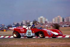 The Ronnie Peterson/Tim Schenken Ferrari 312PB, Buenos Aires '72. They won. (via RacerMag)