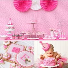 A Super-Girlie First Birthday Party- plus 50 other birthday ideas including some for Dec. birthdays