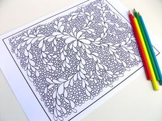 Coloring Page Printable Zentangle Inspired PDF by JoArtyJo on Etsy