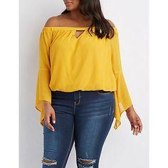 ed5e2da4fb0 Xehar Women s Plus Size Double Layer Solid Blouse Top