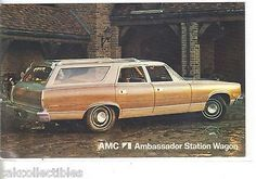 AMC Ambassador Station Wagon-Vintage Post Card