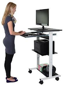 Charmant Mobile Adjustable Height Stand Up Workstation (Black U0026 Bl...  Https://www.amazon.com/dp/B019EME04G/refu003dcm_sw_r_pi_dp_x_UdVlyb230D7W7 |  Closet Office ...