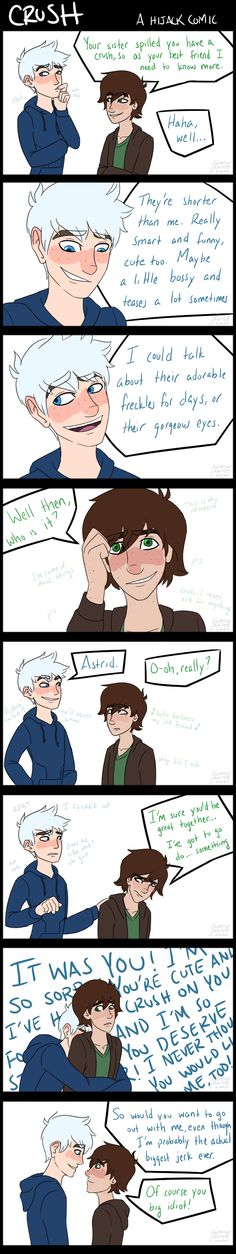 Crush by EnemyOfSanity | Hiccup Haddock x Jack Frost | Frostcup | Hijack