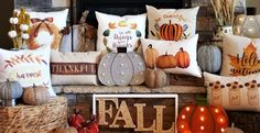 Spruce up your Fall decor with our pillow covers.