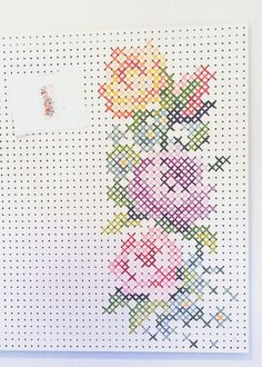 Copying the Cross Stitch Pattern onto the pegboard