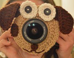 Camera Lens Buddy Minion Crochet Handmade by DanasCrochetShop