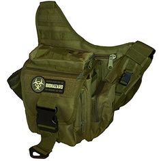 Men& Tactical Daddy Diaper Bag - Olive - With Blow Out / Biohazard Morale Patch Daddy Diaper Bags, Thing 1, Morale Patch, Changing Pad, Pouch Bag, Baby Gear, Sling Backpack, Shoulder Strap