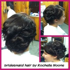 Bridal hair , Wedding hair , Bridesmaid Prom Homecoming hair by Rochelle Noone On location Bridal hairstylist Pittsburgh Pa