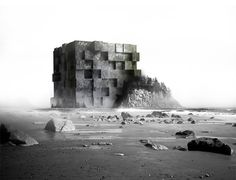 adrian labaut hernandez imagines a series of dystopian lighthouses