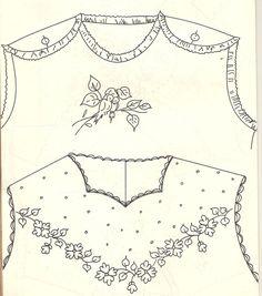 koysas-ogionih: Moldes de roupinhas de bebê!!! Com riscos dos bordados...