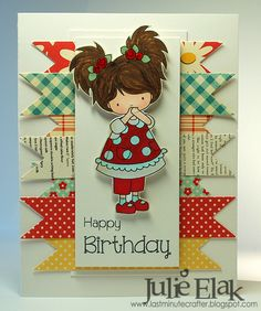 Patterned Paper Birthday by Humma - Cards and Paper Crafts at Splitcoaststampers