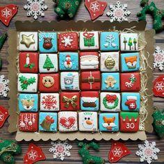 Christmas Goodies, Christmas Baking, Christmas Crafts, Kawaii Cookies, Cupcake Cookies, Christmas Sugar Cookies, Gingerbread Cookies, Dream Recipe, Christmas Cake Designs