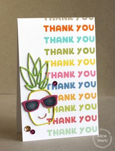Thank You card by Alice Wertz for Paper Smooches - Pineapple Crush 2, Pineapple 2 Die