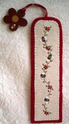 embroidered felt bookmark and journal ideas on this website