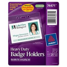 avery badge holders horizontal prepunched 3 bsf pinterest