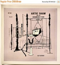 On Sale Rare Artie Shaw and his Gramercy by TerenceLoveVintage