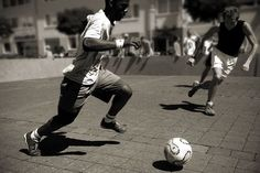 Over the summer I mostly played soccer in the park with other people.
