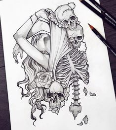 Tattoo Design Drawings, Pencil Art Drawings, Art Drawings Sketches, Tattoo Sketches, Tattoo Designs, Creative Pencil Drawings, Tattoo Ideas, Skull Tattoos, Body Art Tattoos