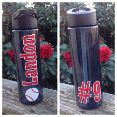 Personalized Baseball Water Bottle Baseball Water Bottle