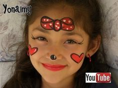 Minnie Mouse face painting tutorial for Kids, one of the most requested face painting designs by girls. Learn this Disney character face painting with me. Mini Mouse Face Paint, Mini Mouse Makeup, Mickey Mouse Face Painting, Princess Face Painting, Face Painting Tutorials, Face Painting Designs, Body Painting, Mickey Mouse Tattoos, Iron Man Art